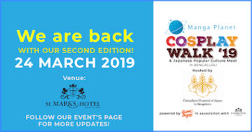 Cosplay Walk 2019 is back! Click here for more details.