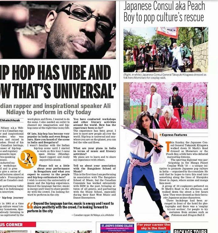 Indian Express(2018年3月20日版)記事
