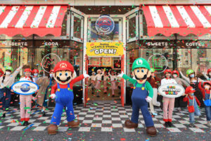 The Mario Cafe & Store opening ceremony