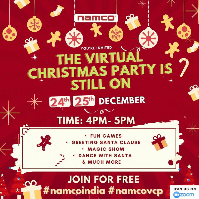 Invitation for Virtual Christmas Party