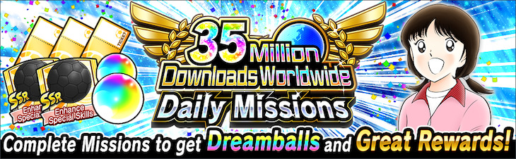 35 Million Downloads Worldwide Daily Missions