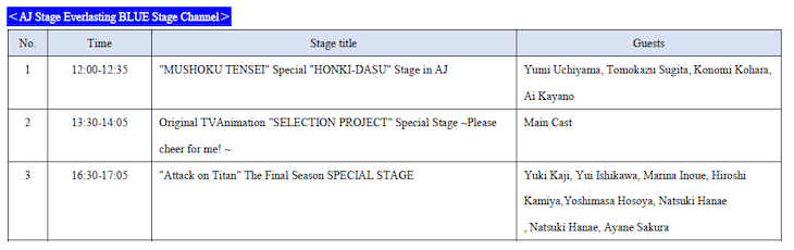 AJ Stage Everlasting BLUE Stage Channel on 28th